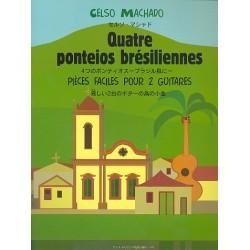 Machado, Celso: 4 ponteios bresiliennes : pour 2 guitares