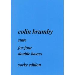 Brumby, Colin: Suite : für 4 Kontrabässe Partitur und Stimmen