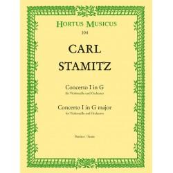 Stamitz, Karl: Concerto Nr. 1 G-Dur : für Violoncello und Kammerorchester Partitur