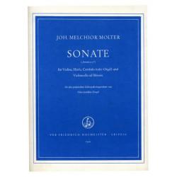 Molter, Johann Melchior: Sonate für Violine, Harfe, Cembalo (Orgel) und Violoncello ad lib.