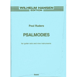 Ruders, Poul: Psalmodies : for guitar solo and 9 intruments score
