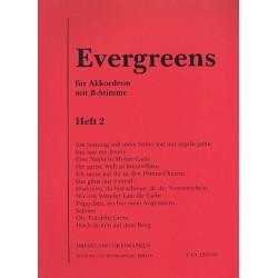Evergreens Band 2 : für Akkordeon mit B-Stimme