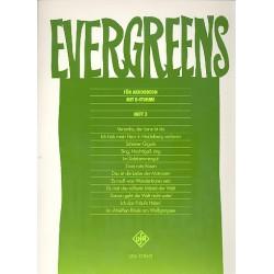 Evergreens Band 3 : für Akkordeon mit B-Stimme