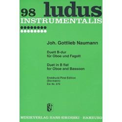Naumann, Johann Gottlieb: Duett B-Dur : für Oboe und Fagott