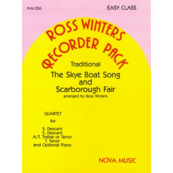 Tthe Skye Boat Song and Scarborough Fair for SSA(T) recorder sand piano score