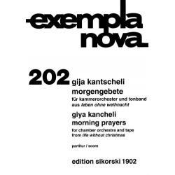 Kantscheli, Gija (Kancheli): Morgengebet : f├╝r Kammerorchester und Tonband, aus dem Zyklus Leben ohne Weihnacht, Partitur