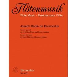 Boismortier, Joseph Bodin de: Sonate g-Moll op.34,1 : f├╝r 3 Fl├Âten und Klavier