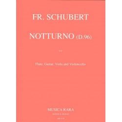 Schubert, Franz: Notturno D96 : für Flöte, Gitarre Viola und Violoncello partitur und Stimmen