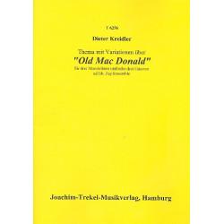 Kreidler, Dieter: Thema mit Variationen über Old Mac Donald : für 3 Mandolinen /3 Gitarren Partitur und Stimmen