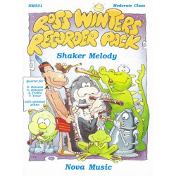 Shaker Melody for 4 recorders (SSAT) with optional piano
