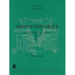 Campioni, Carlo Antonio: Sonata pastorale : für 4 Flöten und Bc (Orgel, Cembalo, Klavier) oder 5 Flöten, Partitur und Stimmen