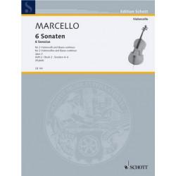 Marcello, Benedetto: 6 Sonaten op.2 Band 2 (Nr.4-6) : f├╝r 2 Violoncelli und Bc