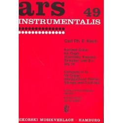 Bach, Carl Philipp Emanuel: Konzert G-Dur Wq34 : für Orgel, (Cembalo / Klavier), Streicher und Bc Partitur