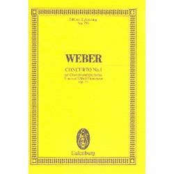 Weber, Carl Maria von: Konzert f-Moll Nr.1 op.73 : für Klarinette und Orchester Studienpartitur