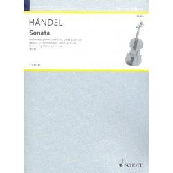 Händel, Georg Friedrich: Sonata g minor : for viola da gamba and harpsichord score and 2 parts