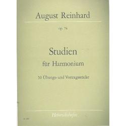 Reinhard, August: Studien op.74 : 50 Übungs- und Vortragsstücke für Harmonium