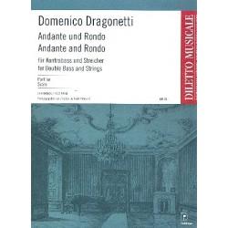 Dragonetti, Domenico: Andante und Rondo : für Kontrabaß und Streicher Partitur
