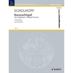 Schulhoff, Erwin: Baßnachtigall : 3 Vortagsstücke für Kontrafagott