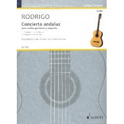 Rodrigo, Joaquin: Concierto andaluz für 4 Gitarren und Orchester : für 4 Gitarren und Klavier Partitur und Stimmen