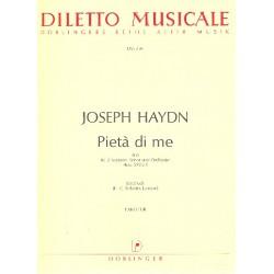 Haydn, Franz Joseph: Pieta di me Hob. XXVb:5 : Trio für 2 Soprane, Tenor und Orchester Partitur