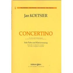 Koetsier, Jan: Concertino op.77 für Tuba und Streichorchester für Tuba und Klavier