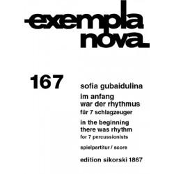 Gubaidulina, Sofia: Im Anfang war der Rhythmus : für 7 Schlagzeuger Spielpartitur