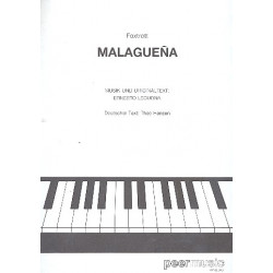 Lecuona, Ernesto: Malagueña : Einzelausgabe Gesang und Klavier (dt/span)