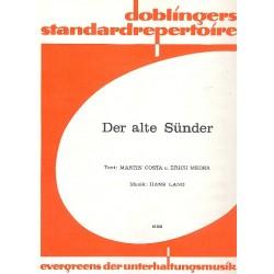 Lang, Hans: Der alte Sünder : Einzelausgabe für Gesang und Klavier