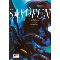 Schlott, Volker: Saxofun (+CD) : 22 Solo-, Duo-, Trio- und Quartettstücke für alle Saxophone Partitur und Stimmen