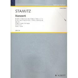 Stamitz, Karl: Konzert G-Dur op.29 für Flöte und Orchester Partitur