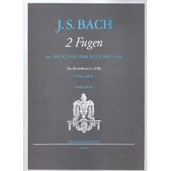 Bach, Johann Sebastian: 2 Fugen aus Die Kunst der Fuge BWV1080 : für 3 Blockflöten (STB) Spielpartitur