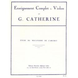 Catherine, G.: Etude du mechanisme de l'archet pour violin