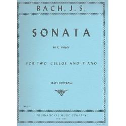 Bach, Johann Sebastian: Sonata C major : for 2 cellos and piano