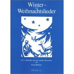 Winter- und Weihnachtslieder : f├╝r Sopranblockfl├Âte und Klavier