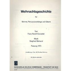 Behrend, Siegfried: Weihnachtsgeschichte : für Stimme, Percussion und Gitarre