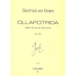 Einem, Gottfried von: Ollapotrida op.101 : 7 Studien für Violine solo
