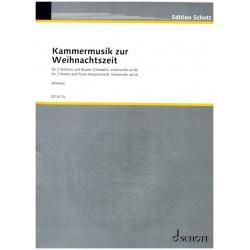 Kammermusik zur Weihnachtszeit : für 2 Violinen und Klavier Partitur und 3 Stimmen