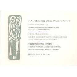 Hausmusik zur Weihnacht : Sätze alter Meister für 1-2 Melodieinstrumente und Klavier, Partitur und Bläserpartitur