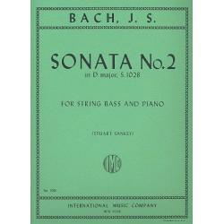 Bach, Johann Sebastian: Sonata D major no.2 BWV1028 : for double bass and piano
