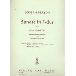 Haydn, Franz Joseph: Sonate F-Dur Hob.VI:1 für Violine solo und Viola Violine und Klavier