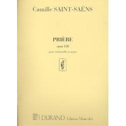 Saint-Saens, Camille: Priere op.158 : pour violoncelle et orgue