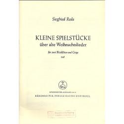 Reda, Siegfried: Kleine Spielstücke für 2 Blockflöten und Violine Partitur