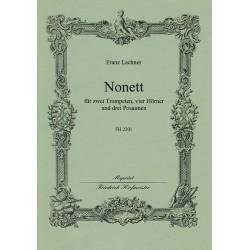 Lachner, Franz Paul: Nonett : f├╝r 2 Trompeten, 3 Posaunen und 4 H├Ârner Partitur und Stimmen