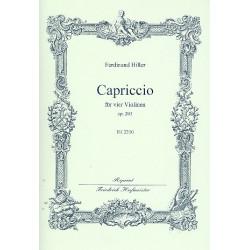 Hiller, Ferdinand von: Capriccio op.203 : für 4 Violinen