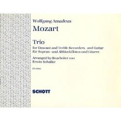 Mozart, Wolfgang Amadeus: Trio : für Sopran- und Altblockflöte und Gitarre