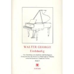 Einhändig Band1 : Kompositionen für Klavier zu 1 Hand, zu 3 Händen und für Klavier und Violine