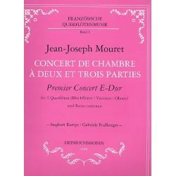 Mouret, Jean-Joseph: Concert de chambre a deux et trois parties : Premier concert E-Dur