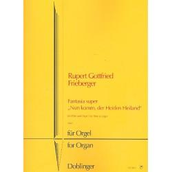 Frieberger, Rupert Gottfried: Fantasia über Nun komm der Heiden Heiland : für Flöte und Orgel