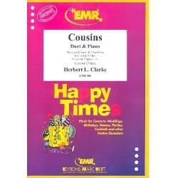 Clarke, Herbert L.: Cousins : Duett für Trompete, Posaune und Klavier