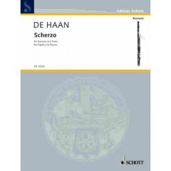 Haan, Stefan de: Scherzo : for bassoon and piano